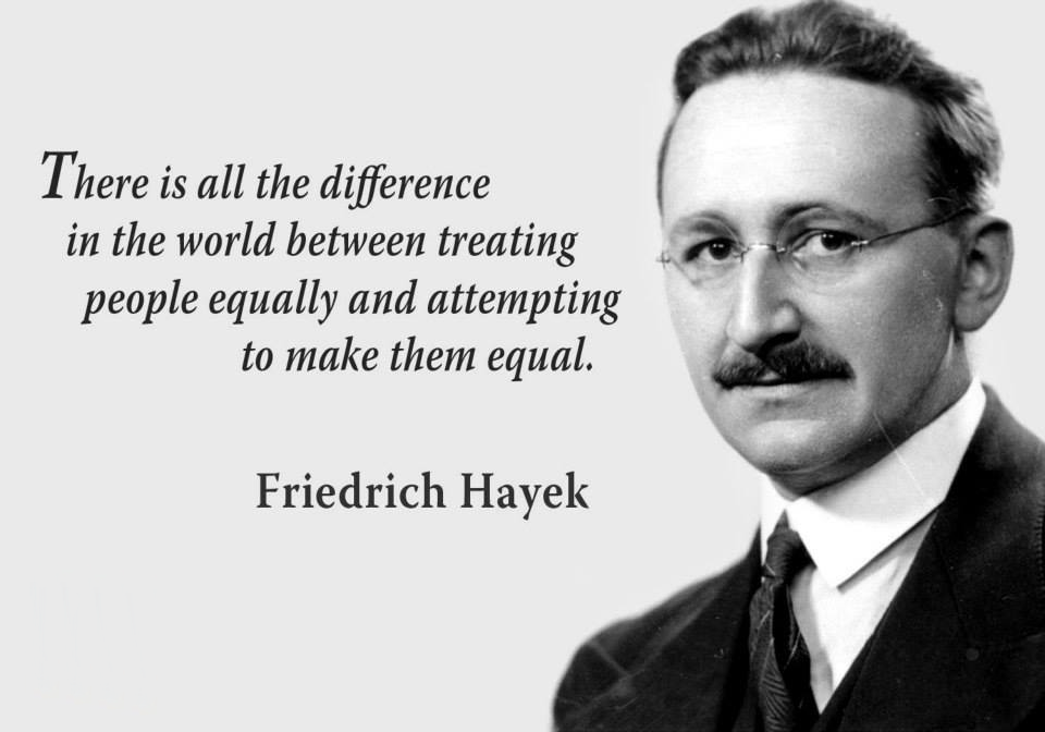 Økonomen Friedrich Hayek om lighed